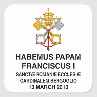 Pope Francis Square Stickers
