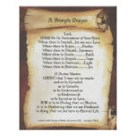 POPE FRANCIS=ST. FRANCIS SIMPLE PRAYER=Scroll Poster