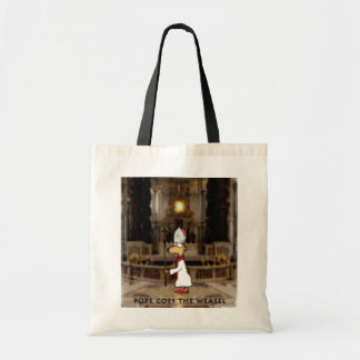 Pope Goes the Weasel Tote Bags