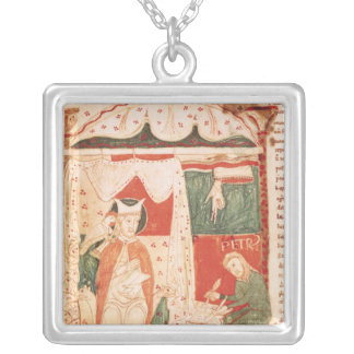 Pope Gregory I the Great Silver Plated Necklace