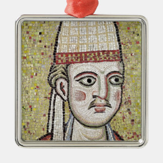 Pope Innocent III Silver-Colored Square Decoration
