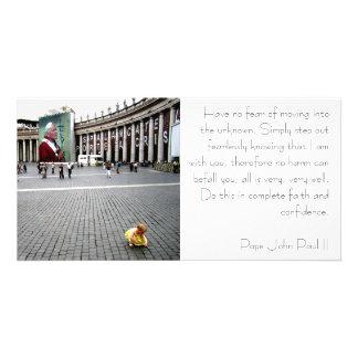 Pope John Paul II and Baby Photo Card Template