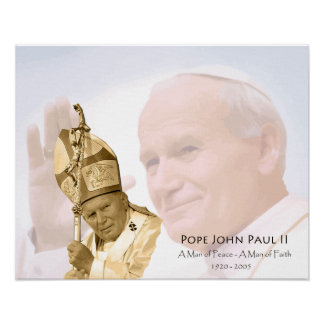 Pope John Paul II Collage Canvas Print