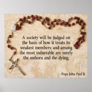 Pope John Paul II Quote Print