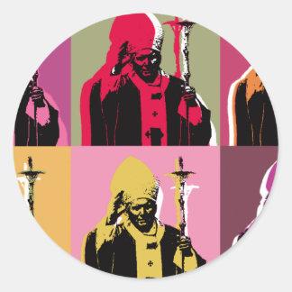 Pope John Paul II Round Sticker