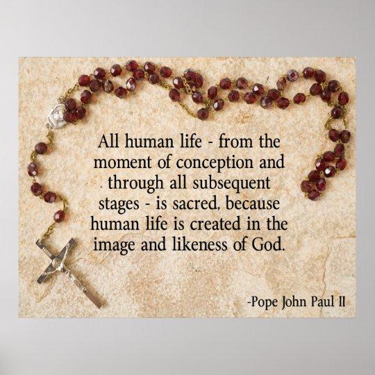 Pope John Paul Pro-Life Poster