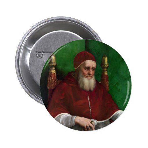 Pope Julius II by Raphael Pinback Button