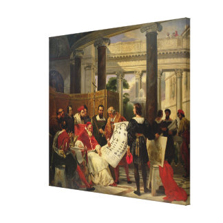 Pope Julius II ordering Bramante Canvas Print