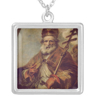 Pope Leo I Silver Plated Necklace