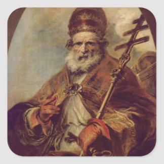 Pope Leo I Square Sticker