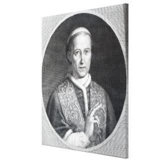 Pope Leo XII, engraved by Raffaele Persichini Canvas Print