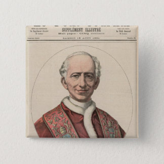 Pope Leo XIII 15 Cm Square Badge