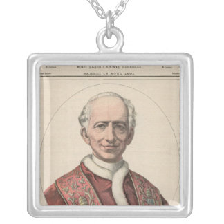 Pope Leo XIII Silver Plated Necklace