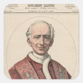 Pope Leo XIII Square Sticker