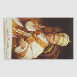 Pope Leo XIII Vincenzo Gioacchino Luigi Pecci Rectangular Sticker