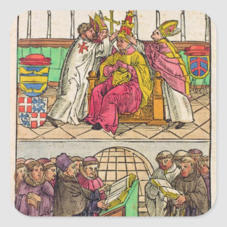 Pope Martin V is installed to the Papacy Sticker