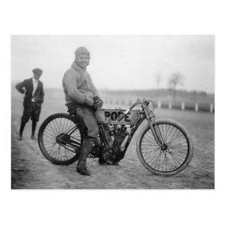 Pope Motorcycle Racer, 1915 Postcard
