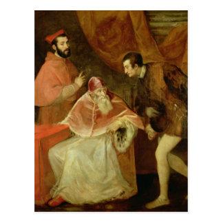 Pope Paul III  and his Nephews, 1545 Postcard