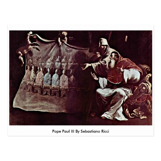 Pope Paul III By Sebastiano Ricci Postcard