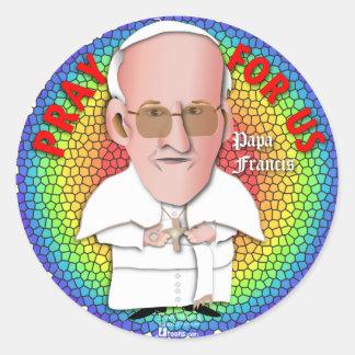 Pope Portrait roun Round Sticker