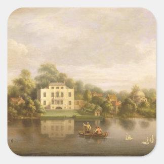 Pope s Villa Twickenham c 1765 oil on canvas Stickers