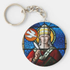 Pope Saint Gregory the Great - Stained Glass Key Ring