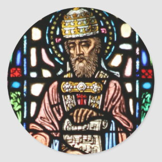 Pope Saint Gregory the Great - Stained Glass Stickers