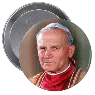 Pope Saint John Paul II 10 Cm Round Badge