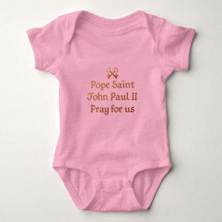 Pope Saint John Paul II Pray for us Baby Bodysuit