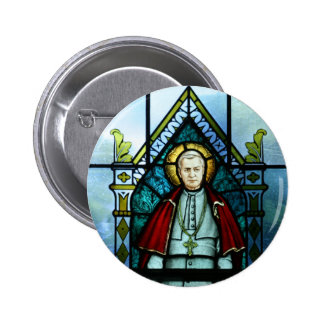 Pope Saint Pius X Stained Glass Art 6 Cm Round Badge