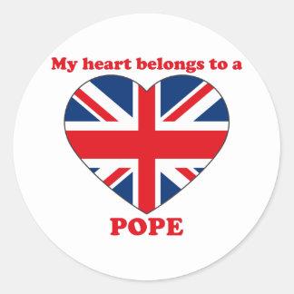 Pope Round Sticker