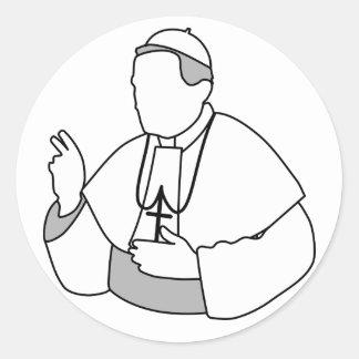 Pope Stickers Round Sticker