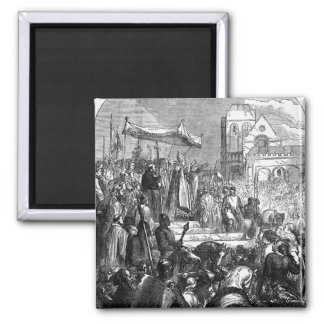 Pope Urban II  Preaching the First Crusade Square Magnet