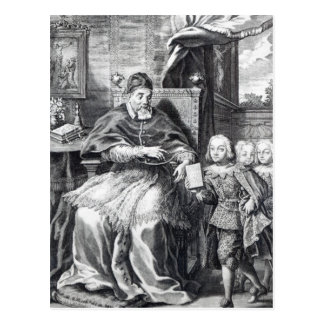 Pope Urban VIII with his nephews Postcard