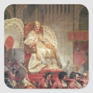 Pope VIII  in St. Peter's on the Sedia Gestatoria Square Sticker