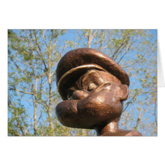 Popeye statue in Chester, Illinois Card