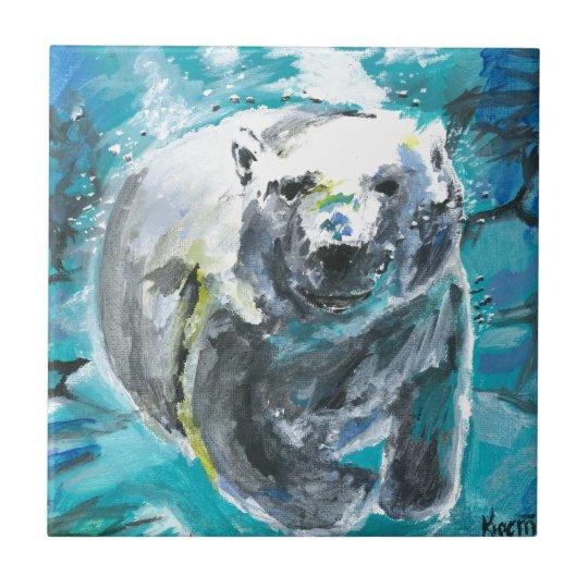 Poplar Bear 1 Small Square Tile