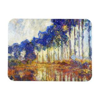 Poplars on the Banks of the River Epte Monet Rectangular Photo Magnet