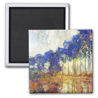 Poplars on the Banks of the River Epte Monet Square Magnet