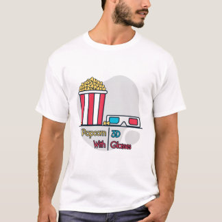 Poporn with 3d glasses t shirt