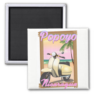Popoyo Nicaragua beach travel poster Magnet