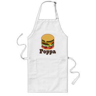 Poppa Grandpa Burger BBQ Grilling Gift Aprons