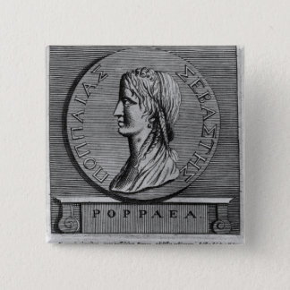 Poppaea Sabina, engraving after a Roman 15 Cm Square Badge