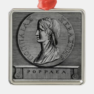 Poppaea Sabina, engraving after a Roman Silver-Colored Square Decoration