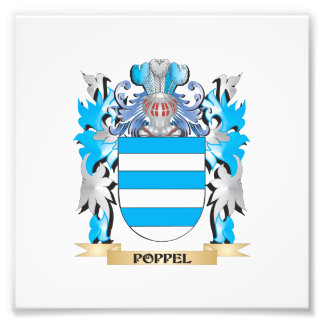 Poppel Coat of Arms - Family Crest Art Photo