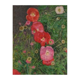 Poppies 2009 wood print
