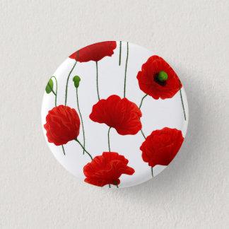 Poppies 3 Cm Round Badge