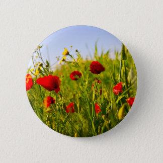 Poppies 6 Cm Round Badge
