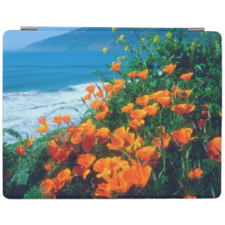 Poppies along the Pacific Coast near Big Sur iPad Cover