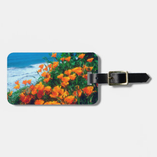 Poppies along the Pacific Coast near Big Sur Luggage Tag